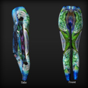 Keeper of the Cosmic Codes Sacred Visionary Art Yoga Pants